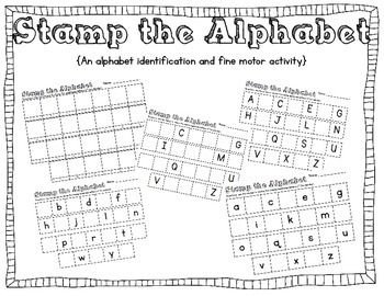 Stamp the Alphabet {A letter identification and fine motor