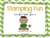 Stamping Fun {Dolch Words Lists 1-11}