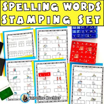 Stamping Literacy Center Bundle:Sounding Out, Alphabet, Ph