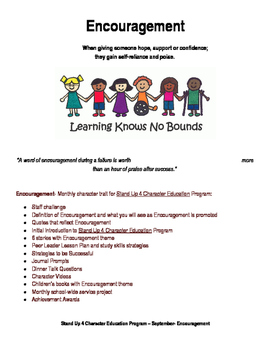 Stand Up 4 Character Education - Month of September