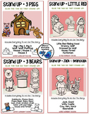 Stand-Ups Fairy Tales Craft and Writing BUNDLE 4 pack