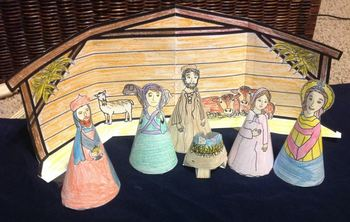 Stand up Nativity Set (printable)