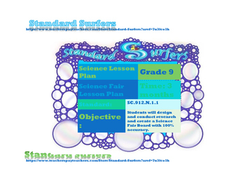 9th Grade Science Fair Lesson Plan for Interactive Notebook