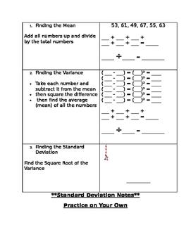 Standard Deviation Notes
