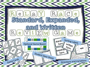 Standard, Expanded, or Written Form Place Value Relay Race