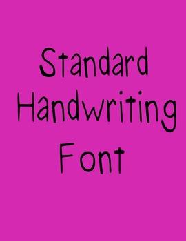 Standard Handwriting Font (Speech Savvy)