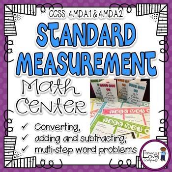 Standard Measurement Task Mat Math Center