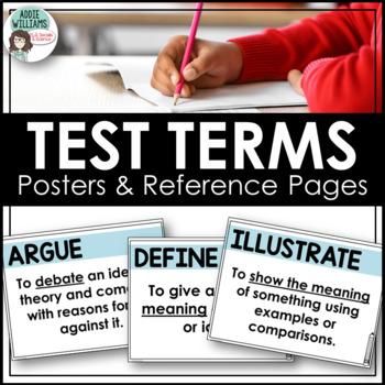Test Prep / Test Key Word Posters