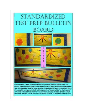 Standardized Test Prep Bulletin Board Template Packet End