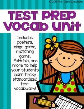 Standardized Test Prep Vocabulary Pack