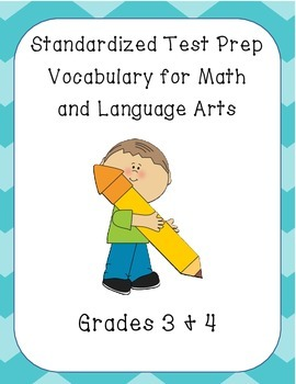 Standardized Test Prep Vocabulary for Language Arts and Ma