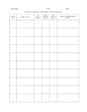 Standardized Test Student Progress Log - Answer Sheets