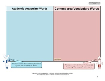 Standards-Based Classroom Setting Tier 2-3 Word Wall Poster