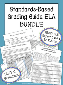 Standards-Based Grading for ELA {Report Card & 32 Rubrics