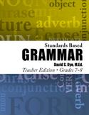 Standards Based Grammar: Grades 7-8 Soft Cover