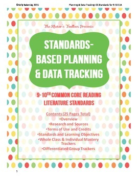 Standards-Based Planning and Data Tracking for 9-10th CC R