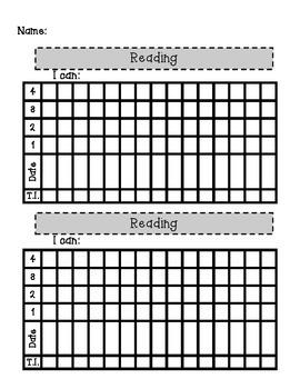 Standards Based Reading Learning Target Tracker