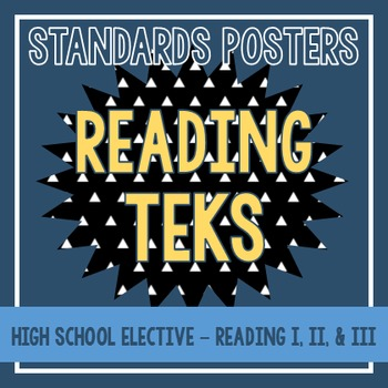 Standards Posters - High School Reading TEKS (Black Triangles)