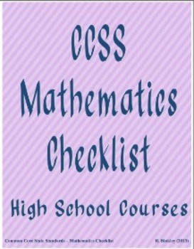 Standards for Mathematical Practice CCSS checklist (T3)
