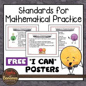 """Standards for Mathematical Practice Posters and """"I Can"""" St"""