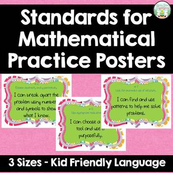 Standards for Mathematical Practice - Multi - Kid Friendly