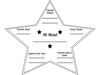 Star About Me Banner Template