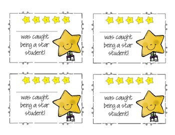 Star Behavior Punch Cards