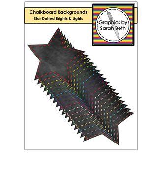 Star Chalkboard Dotted Line Backgrounds - Chalkboard Backgrounds