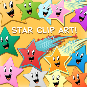 Star Clip Art Pack - 33 Images for Commercial Use