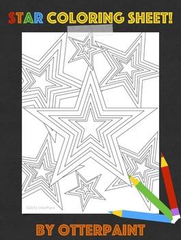 Star Coloring Sheet