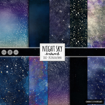 Outer Space, Star Digital Paper, Solar System, Night Sky,
