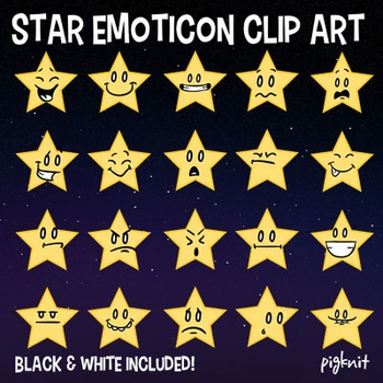 Star Emoticon Clip Art, Faces, Emoji Graphic, Emotions, Fa