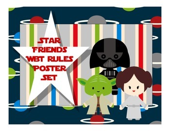 Star Friends Whole Brain Teaching Rules Posters