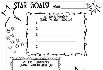 Star Goals - Behavior Goal-Setting Worksheet
