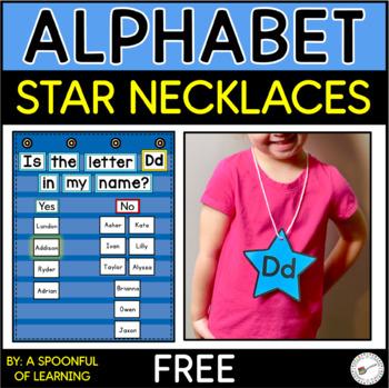 FREEBIE! Alphabet Star Necklaces