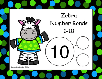 Zebra Number Bonds 1-10