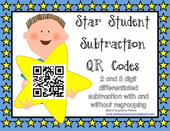 Star QR Codes Differentiated 2 & 3 Digit Subtraction with