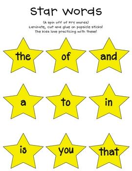 Star Sight Words