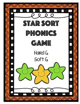 Star Sort Phonics Game: Soft G and Hard G