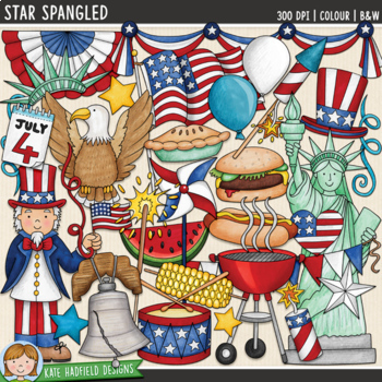 """Fourth of July Clip Art: """"Star Spangled"""""""