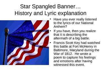 Star Spangled Banner-- National Anthem explained