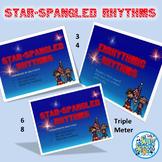 Star-Spangled Rhythms-3/4 & 6/8 Rhythms with SSB Facts PowerPoint