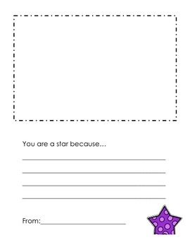 Star Student Writing Paper