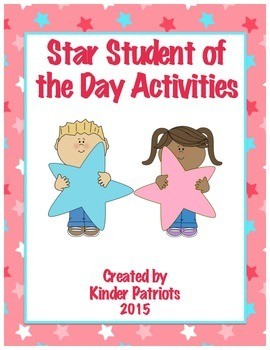 Star Student of the Day Activities