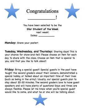 Star Student Letter