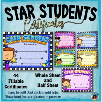 Star Students Certificates