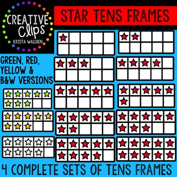 Star Tens Frames {Creative Clips Digital Clipart}