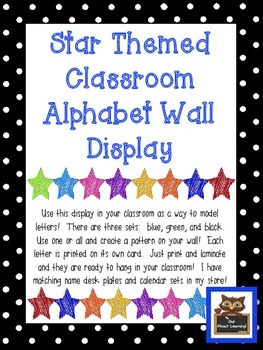 Star Themed Alphabet Wall Display