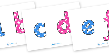 Star Themed Alphabet and Numbers for Display
