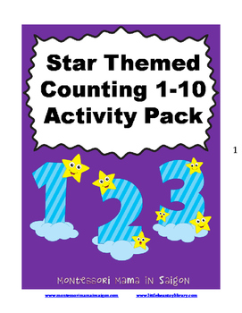 Star Themed Counting 1 to 10 Activity Pack